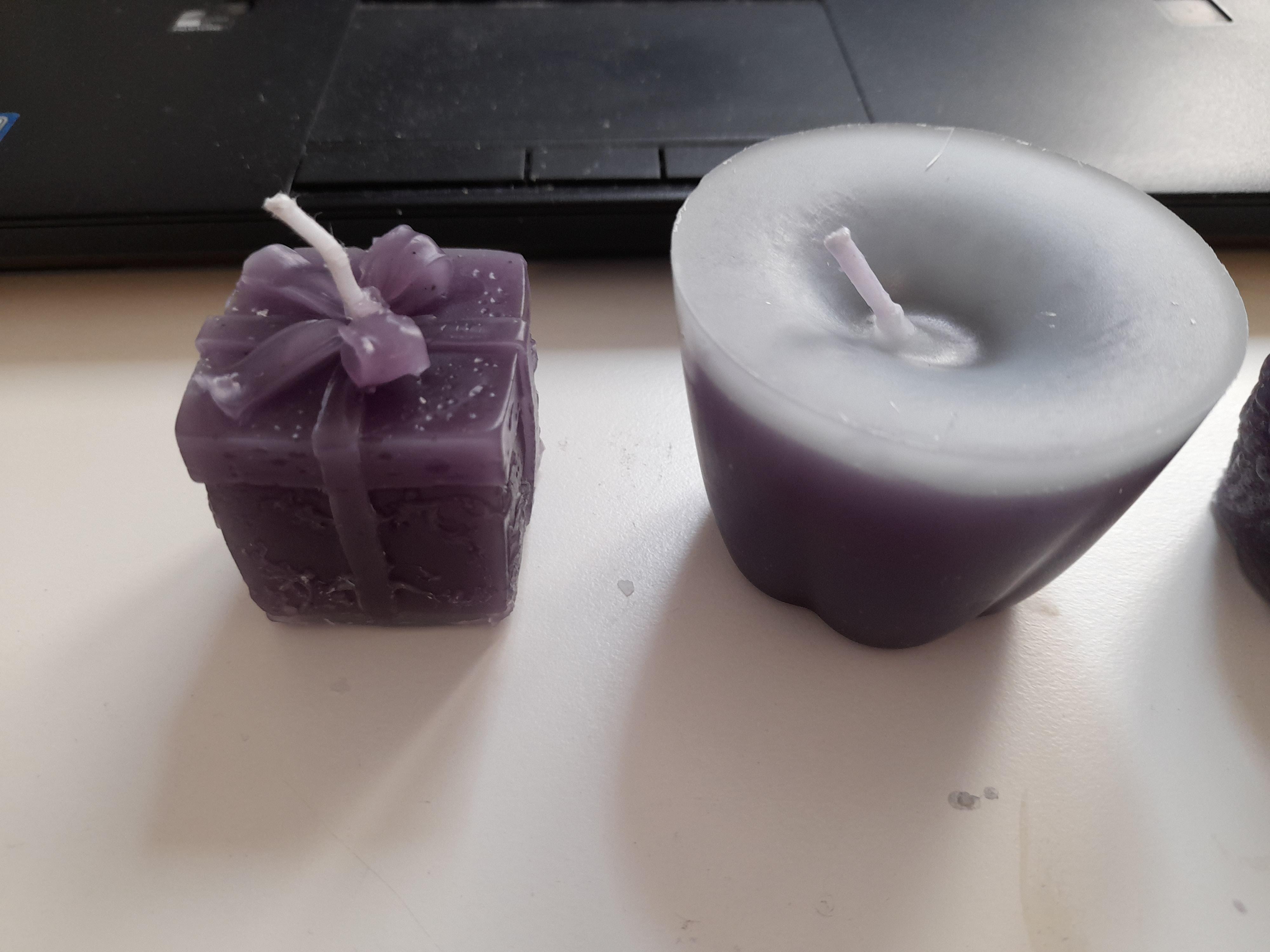 Kerze Geschenk und Muffinform