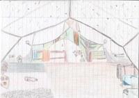 Dieses Bild ist im Zeltlager entstanden als ich 14 war. In einer ruhigen Minute allein im Zelt, hab ich einfach gemalt, was ich gesehen habe.