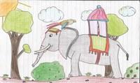 Auch in der 7. Klasse ist dieses Bild entstanden. Gezeichnet habe ich es auf der Sprachreise nach Eastbourne.