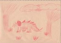 Zu der Zeit der 5. Klasse war ich immer noch verrückt nach Dinosauriern. Also habe ich sie auch ab und zu mal gezeichnet. Diese Zeichnung war nur eine schnelle Skizze.
