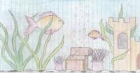 Wie an anderer Stelle schon erwähnt, kommt das Thema Aquarium immer wieder bei mir vor. Dieses Bild ist aus der 10. Klasse.