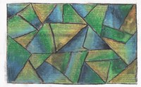 Dies war eine Übung aus dem Kunstunterricht zum Thema Farbgestaltung für alle die eher fertig waren. Ich glaube es war in der 9. oder 8. Klasse.