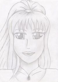 Eines meiner Lieblinge aus der Phase, wo ich viel im Manga-Stil gezeichnet habe. Vor allem die Augen und die Haare liebe ich.