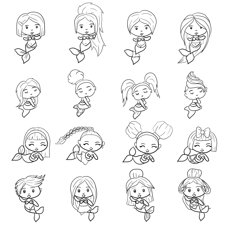 Kleine Meerjungfrauen