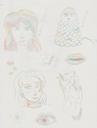 Aus meinem letzten Skizzenheft. Gezeichnet mit einem mehrfarbigen Buntstift.
