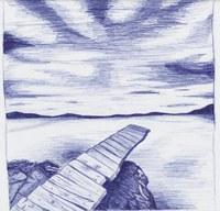 Bild mit Kugelschreiber gezeichnet