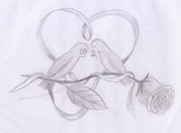 Dieses Bild ist speziell für das Valentinstagsspecial entstanden. Die zwei süßen Vögelchen turteln munter auf ihrer Rose...