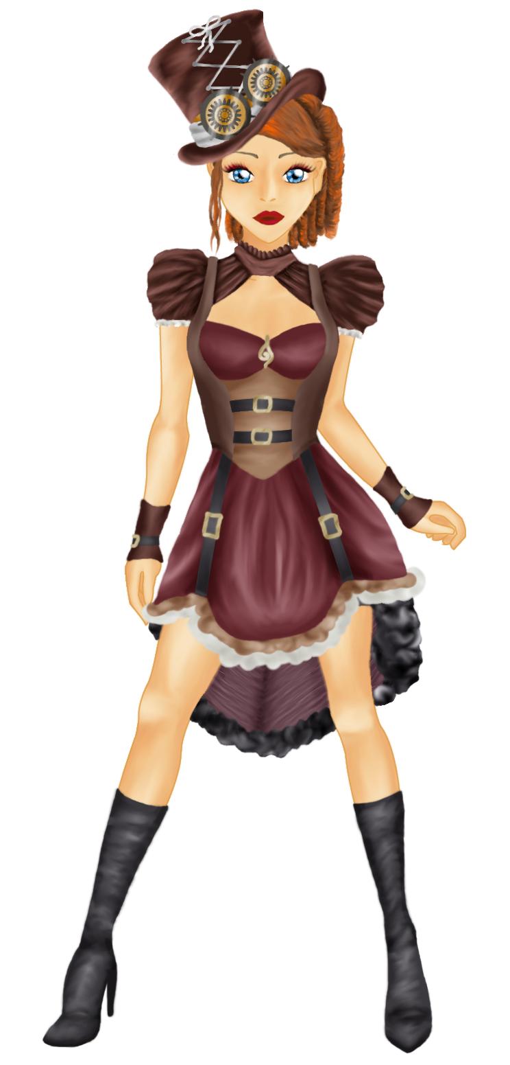 schlichtes Steampunk-Outfit