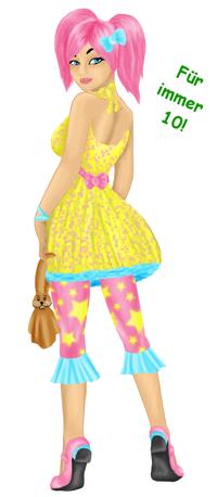 Ein kindliches, buntes Outfit