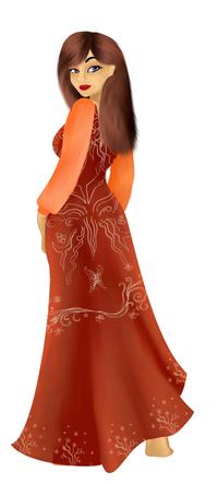 Eigentlich sollte was ganz anderes entstehen, aber während ich so am zeichnen war, wurde doch dieses Kleid daraus.