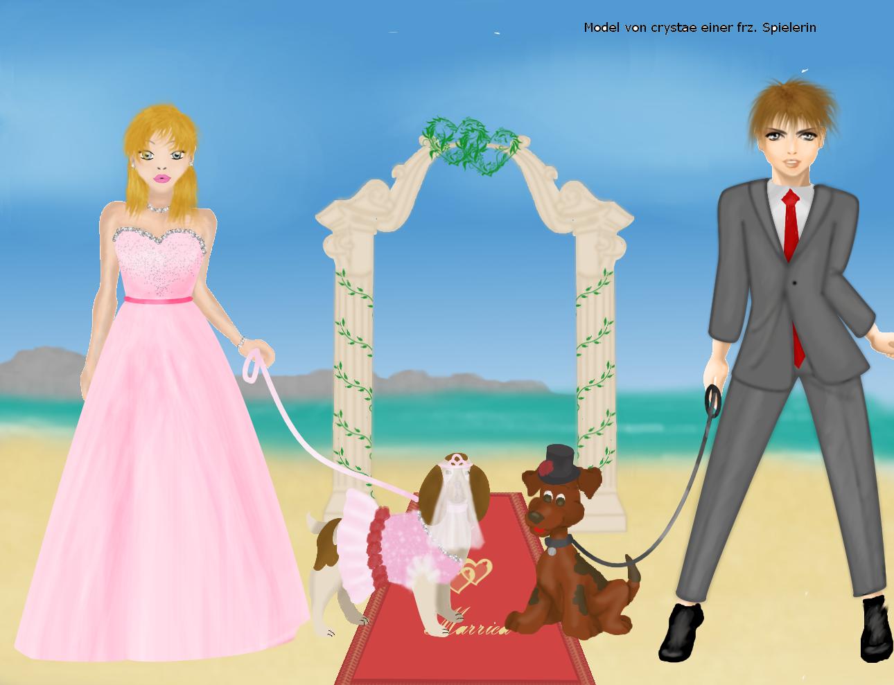 Herrchen und Frauchen Hochzeit