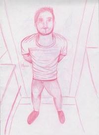 Perspektivübung aus meinem Sketchheft