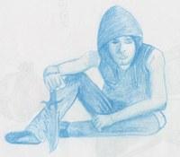 Posenübung aus meinem Sketchheft