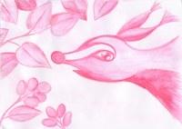 Zeichnung mit Kopierstiften und Wasser